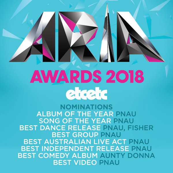 etcetc ARIA Nominations 2018